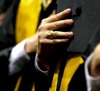graduate with Aggie ring