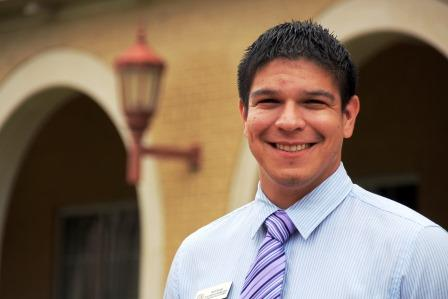 David Guzman, a first-year professional student pharmacist at the Texas A&M Rangel College of Pharmacy.