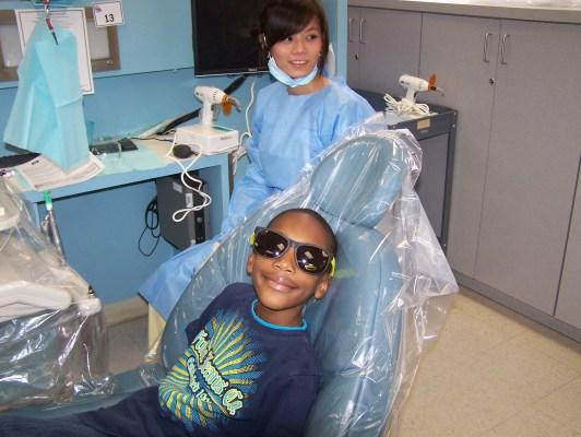 Child in dental chair