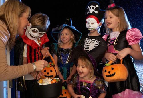 photo of kids at Halloween