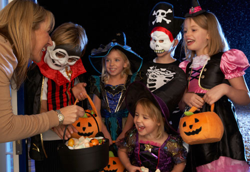 photo of kids at Halloween