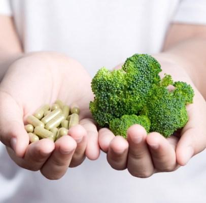 broccoli and pills