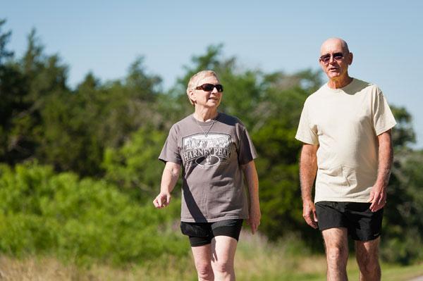 photo of two senior adults walking
