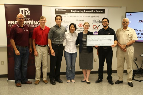 Photo of the first place team from Aggies Invent