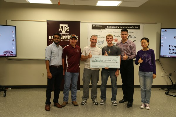 Photo of the second place team from Aggies Invent