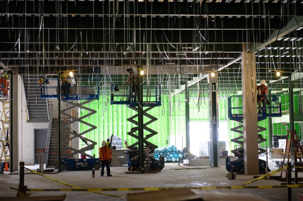 Photo of the Pandemic Influenza Vaccine Facility under construction.