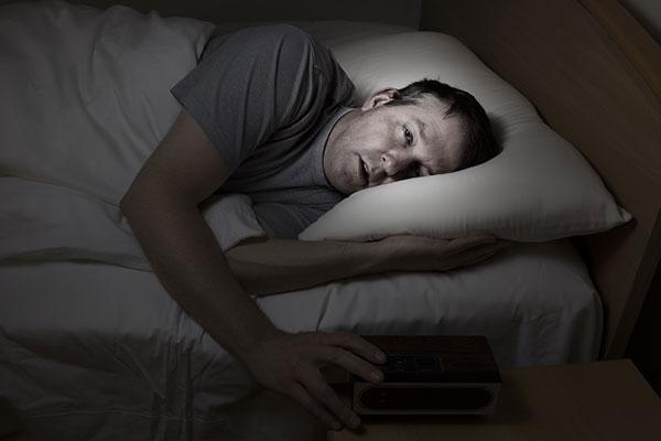 man can't fall asleep