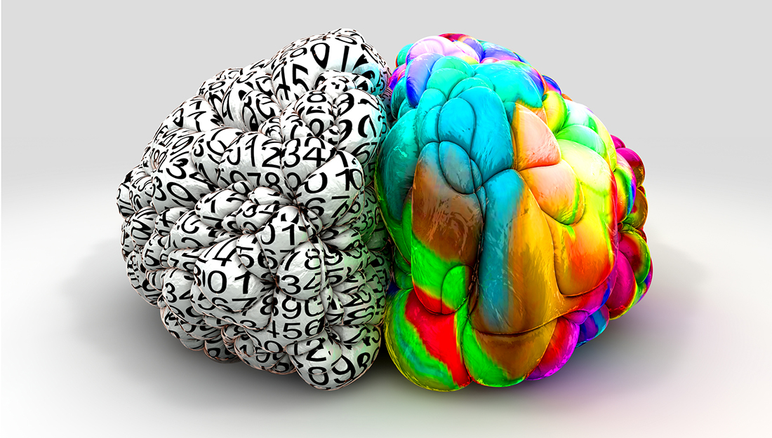 left brain versus right brain, analytical versus creative
