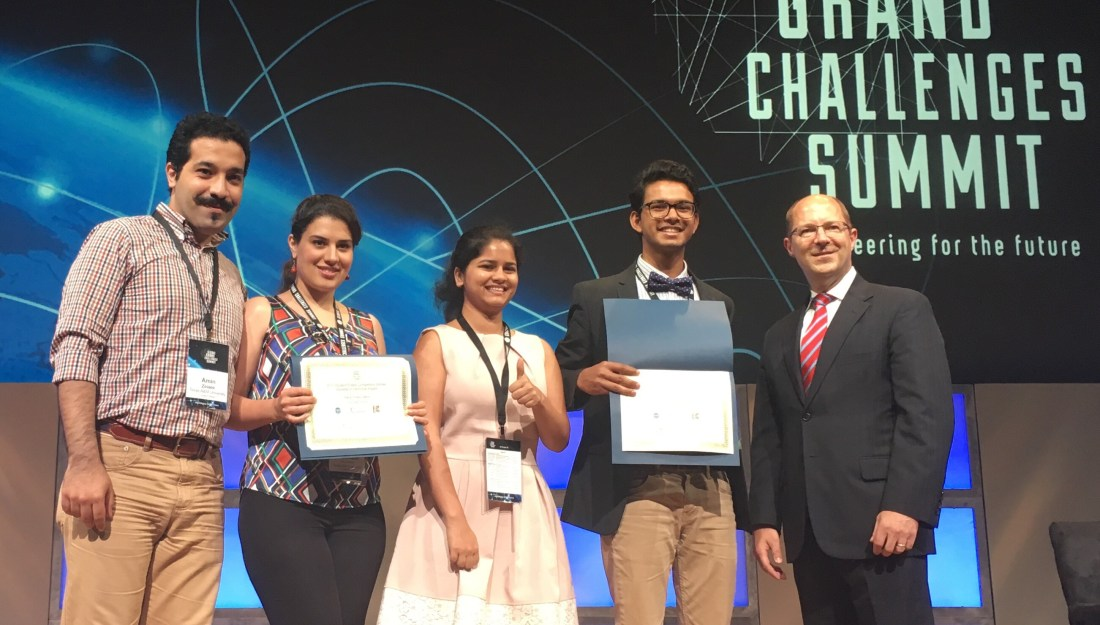 Texas A&M students impress at Global Grand Challenges Summit
