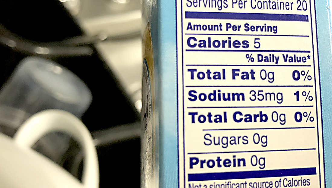 reading diet labels can help reduce salt intake