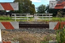 Train track in a rural area