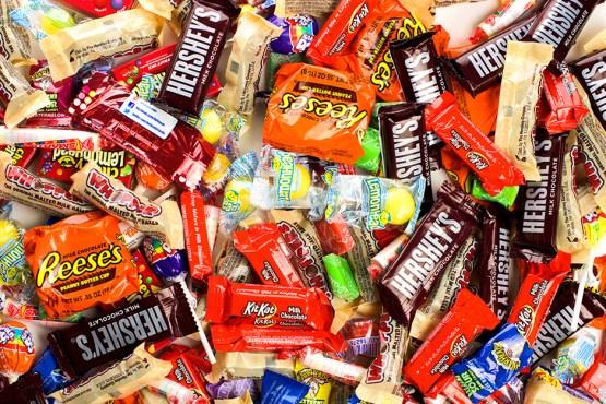 An assortment of candy