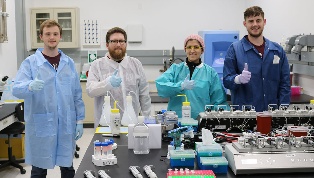 team in NASA lab