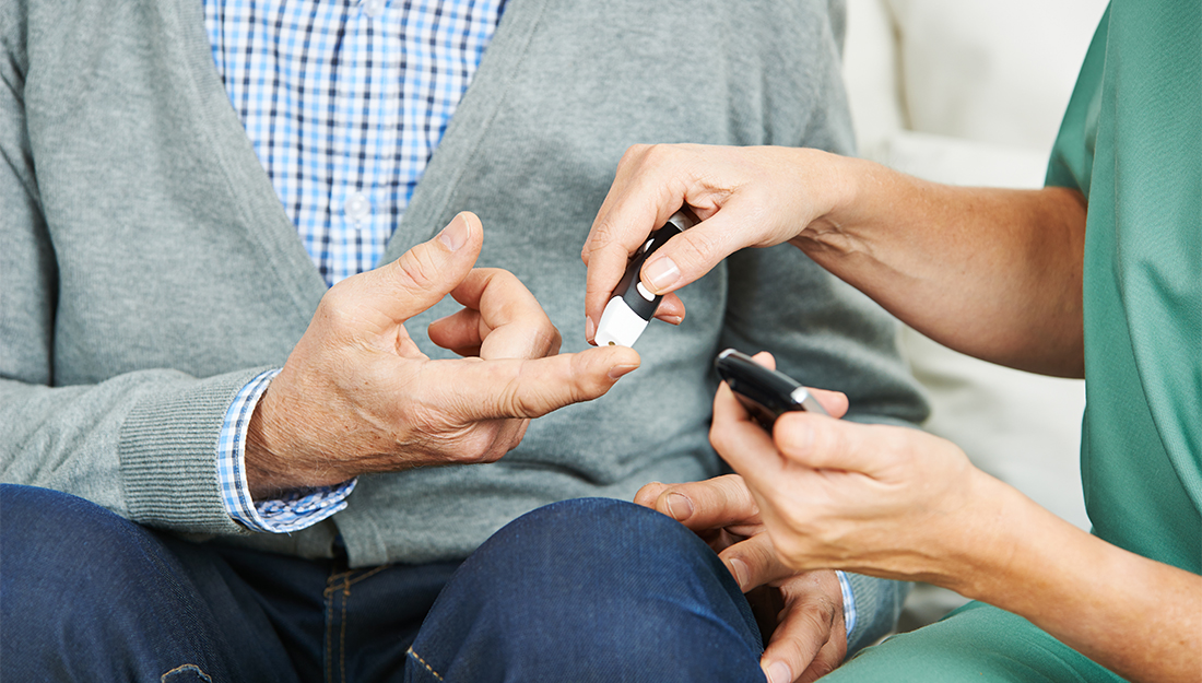 Patient getting his levels checked - Diabetes risk