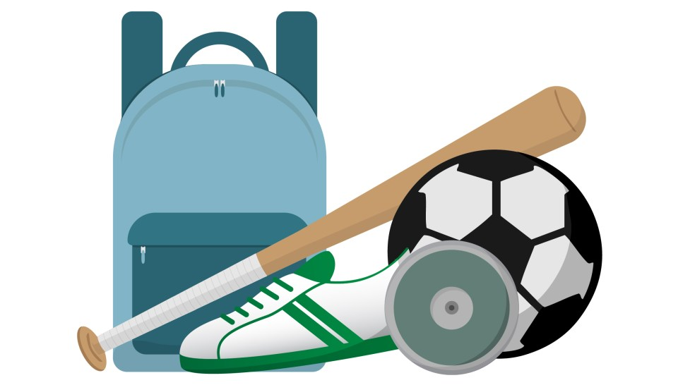 Sports equipment used after sports physicals