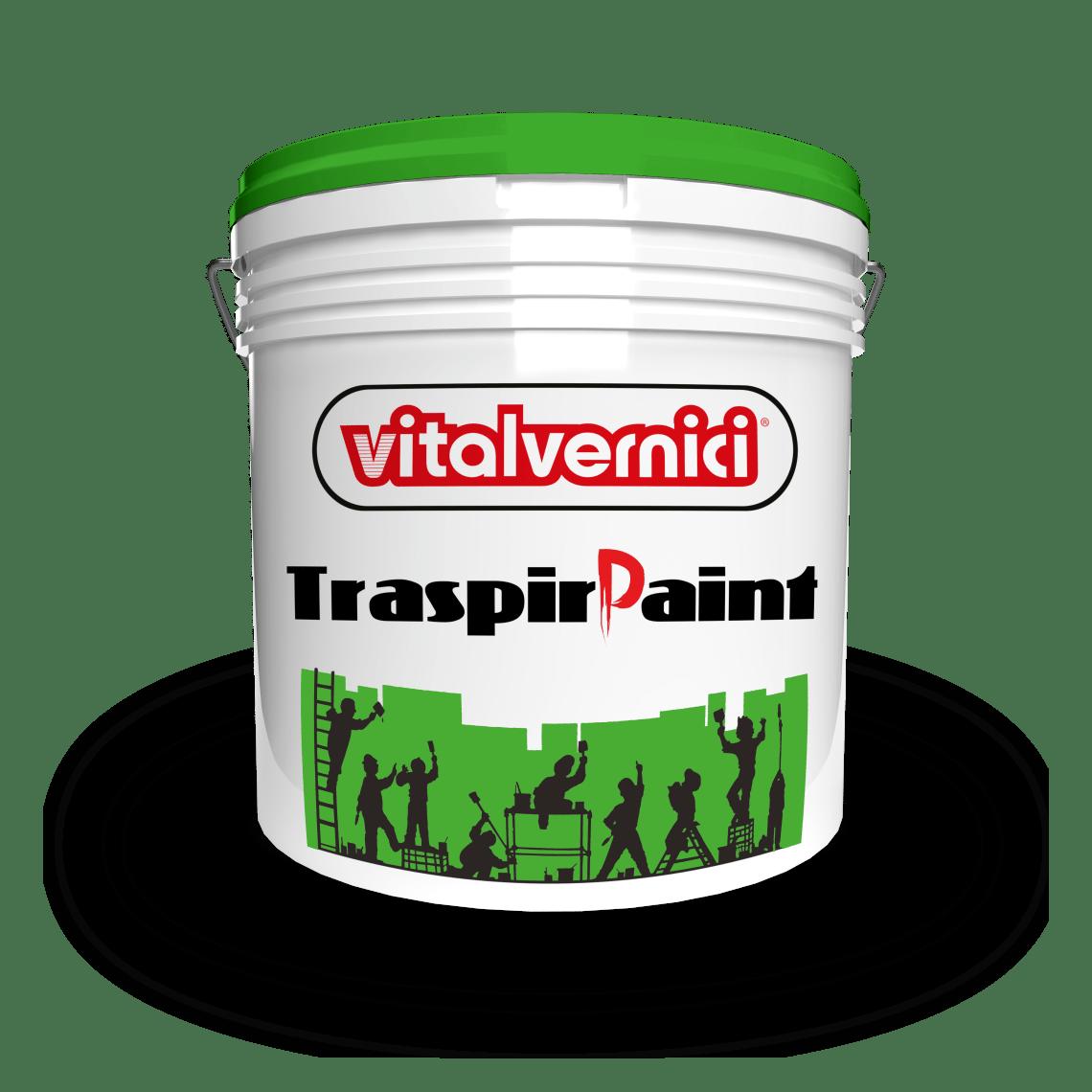 TRASPIRPAINT idropittura traspirante per interni ed esterni, lavabile ed idrorepellente, ad elevatissima copertura