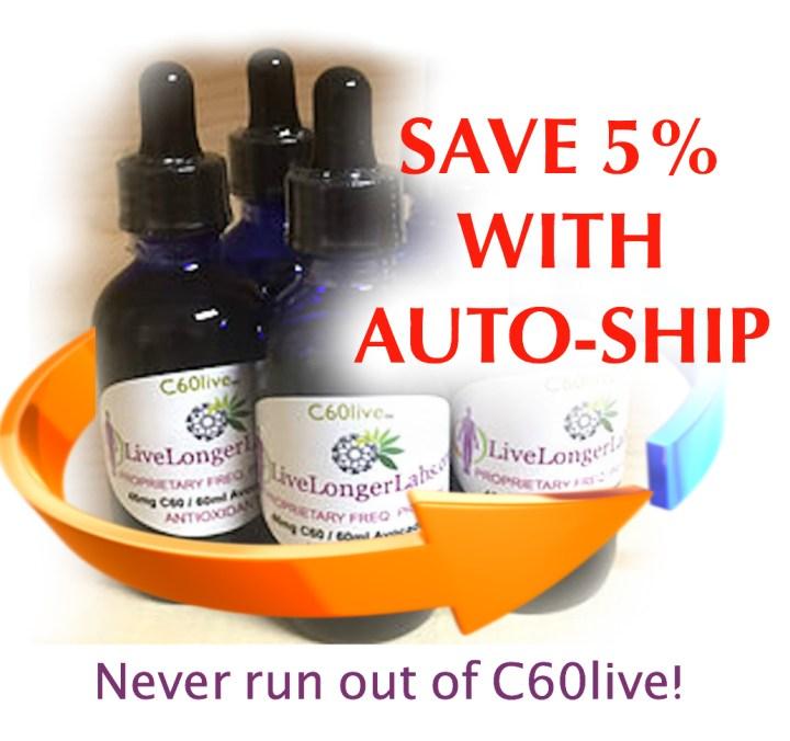 C60live auto-ship program, c60 live, c60live, c60, live longer labs