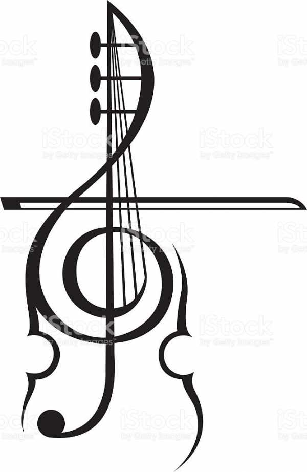 Эскиз скрипичный ключ – 100 фото, значение, эскизы, места ...