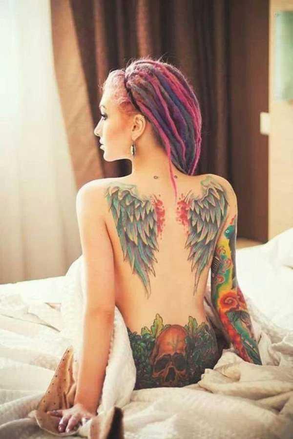 Тату девушки крылья на спине – Тату крылья на спине у ...