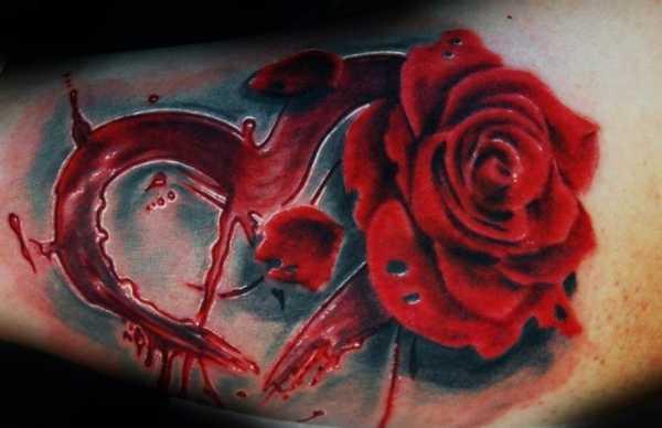 Тату роза на ноге для девушек – Тату роз для девушек — 557 ...
