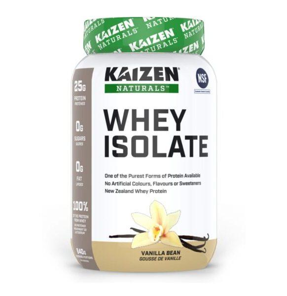 واي بروتين معزول نكهة الفانيلا Kaizen Whey Isolate 840g