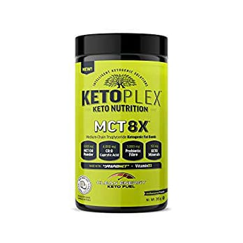 KETOPLEX MCT 8X - MEDIUM CHAIN TRIGLYCERIDE KETOGENIC FAT BOMB