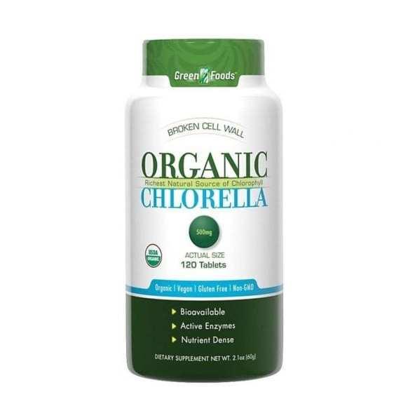 كلوريلا Green Food Organic Chlorella 500mg 120 tab