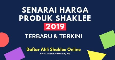 Senarai Harga Produk Shaklee 2019
