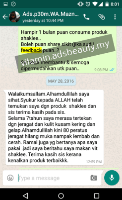 Testimoni Shaklee Customer Feedback