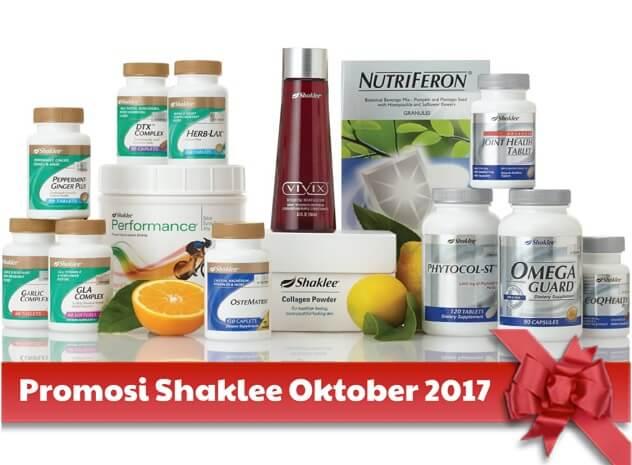 Promosi Shaklee Oktober 2017 Promosi Shaklee October 2017