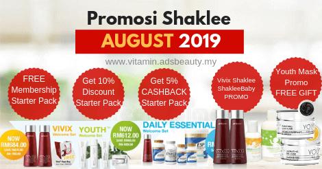 Promosi Shaklee Ogos 2019 Promo August 2019