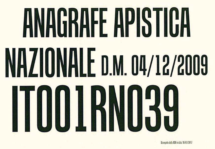 cartello anagrafe apistica