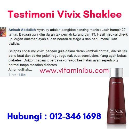 Testimoni Diabetis Pulih dengan Vivix