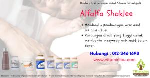 Set Gout Shaklee - Alfalfa Shaklee - Vitamin Untuk Pesakit Gout - Cara Rawat Gout Semulajadi