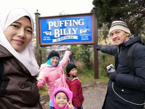 Puffing Billy - Bercuti Ke Melbourne - Signage Puffing Billy