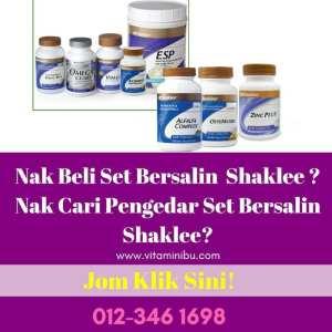 Set Bersalin Shaklee - Set Berpantang Shaklee - Agen Set Bersalin Shaklee