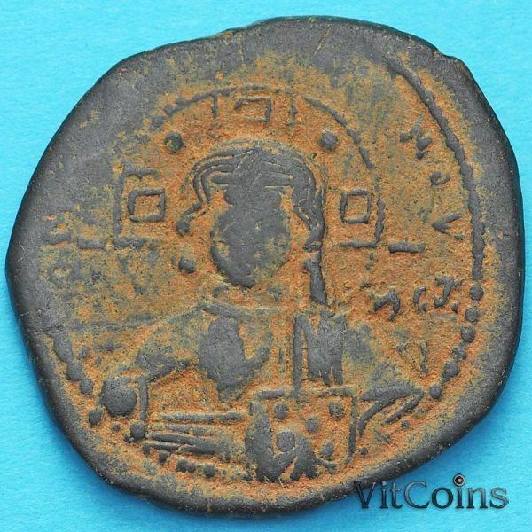Монета Византия анонимный фолис, Иисус. Роман III Аргир ...