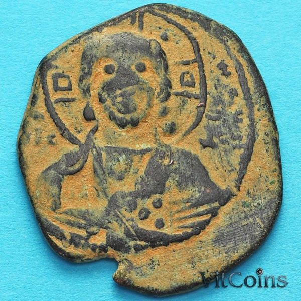 Византия анонимный фоллис, Иисус. Роман III 1028-1034 год. №2