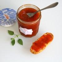 Confiture abricot basilic et touche de fraise