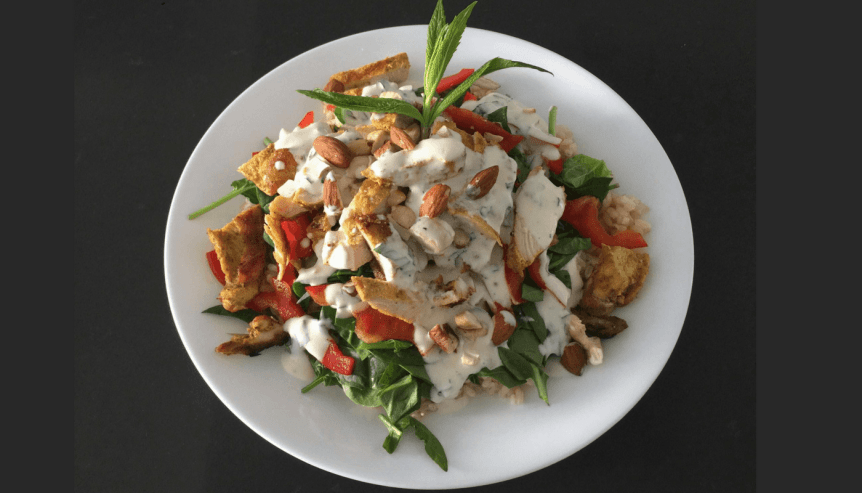 Check this Mint Dressing, Chicken & Rice Salad!