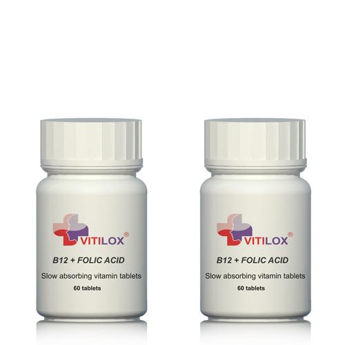 Vitiligo treatment follow up - Stress relief - Vitilox Vitamin B12 & Folic Acid