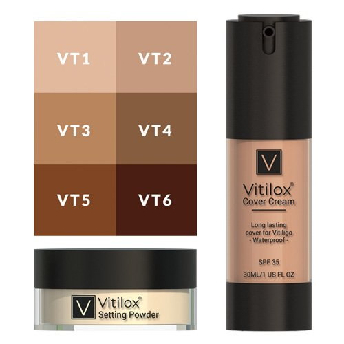 Vitilox® Vitiligo Cover Cream & Setting Powder