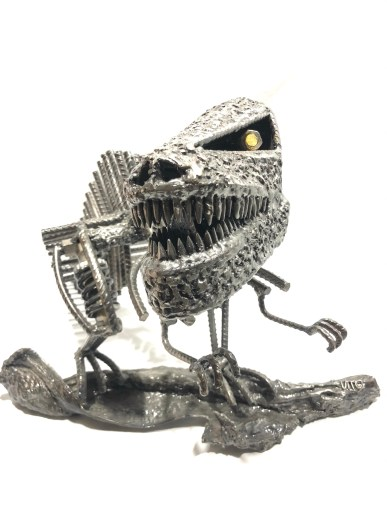 Sculpture tyrannosaurus rex métal Vito