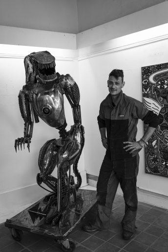 Alien xenomorphe en metal vito art metal