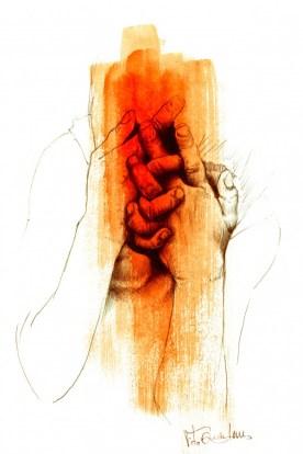 mãos atadas