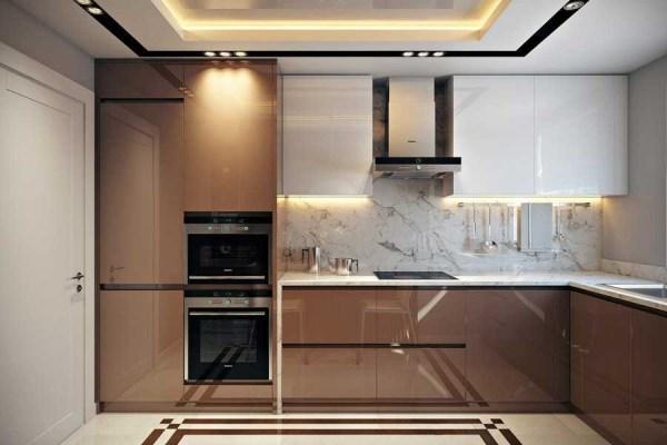 Кухня в кофейных тонах фото: кухонный гарнитур цвета кофе ...