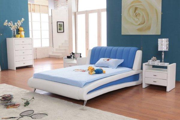 Голубая спальня дизайн: дизайн с фото, вариант серо ...
