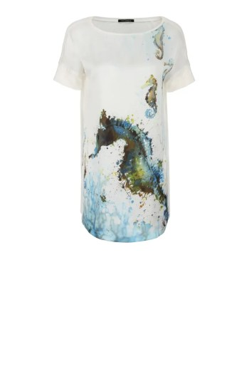 Przedłużana bluzka na lato z dzianinowym tyłem polskiej marki Vito Vergelis