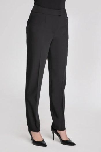 Czarne spodnie damskie z szeroką nogawką marki Vito Vergelis