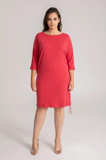 czerwona sukienka z modalu Vito Vergelis
